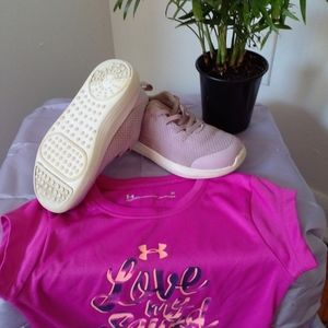 Girls UNDER ARMOUR shoes size 8K light purple +
